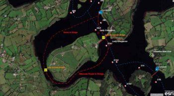 Upper Lough Erne Lady Brooke Bridge; © esri